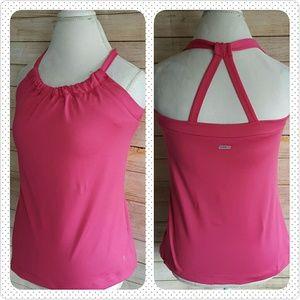 Danskin Now Tops - Danskin Now dri more top pink stretch halter L