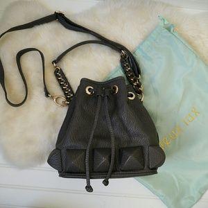 Deux Lux Handbags - Deux Lux Grey Studded Bucket Bag
