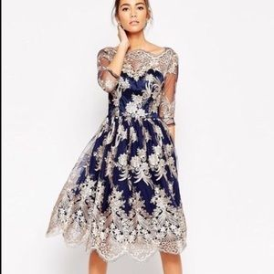 ModCloth Dresses & Skirts - Chi Chi London embroidered dress