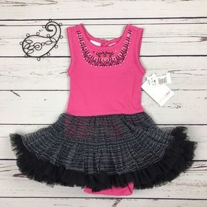 Amy Coe Other - NWT Amy Coe Toddler Girl Tutu Pink Dress Onesie