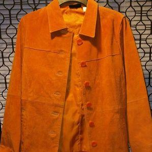 Spiegel Leather Orange Women's Jacket Small