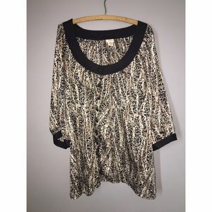 Tops - Leopard 3/4 Sleeve Shirt Sz 24-26