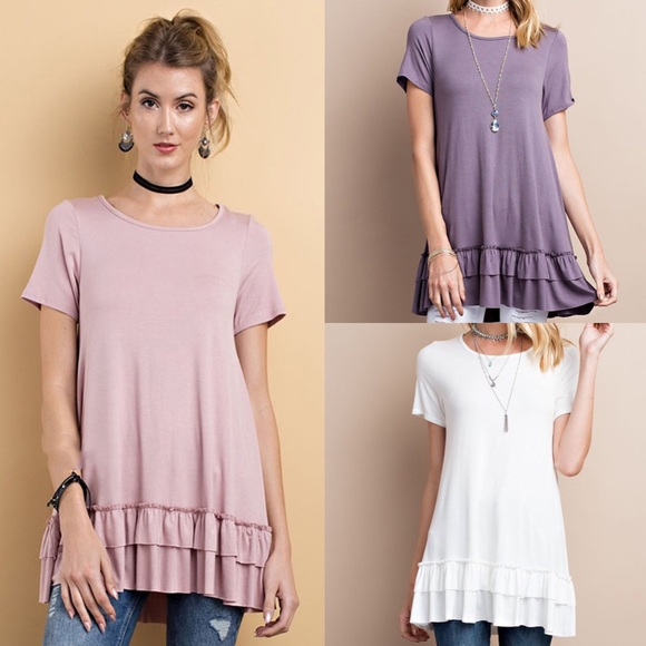 Bellanblue Tops - 🆕ISABELLA loose fit ruffle tunic top - 3 colors