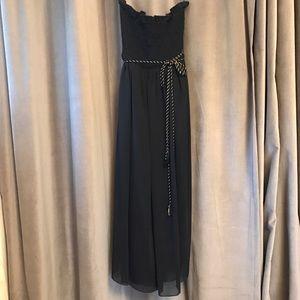 ABS black midi dress