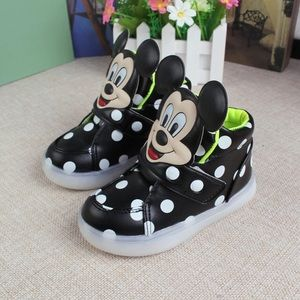Other - Mickey led sneakers