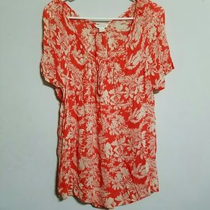 Monsoon Tops - Monsoon Semi Sheer Floral Top SZ Medium