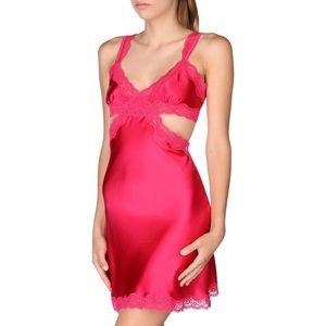 Stella McCartney Clara Pink lace trimmed Chemise