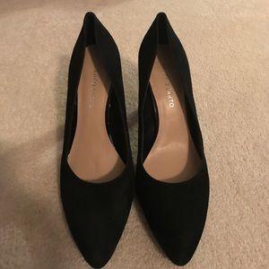 Black Franco sarto suede shoes
