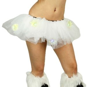iHeartRaves Dresses & Skirts - Rave Gear White Tutu