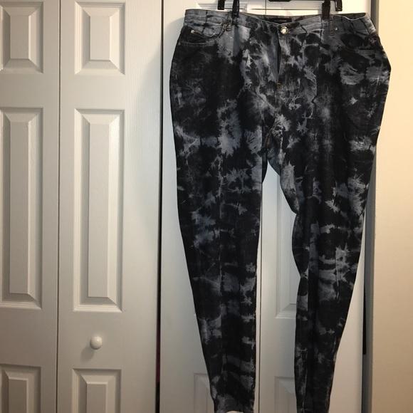 ec67558e671 Ashley Stewart Denim - Acid wash Jean with Diamond cut button plus size