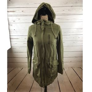 H&M Jackets & Blazers - H&M Divided Olive Green Anorak Jacket