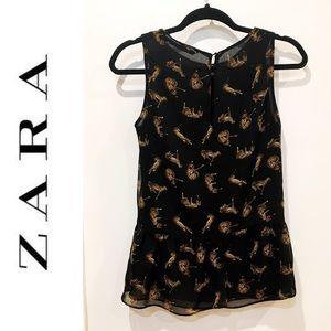 Zara Tops - Zara cheetah peplum tank