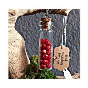 Whimsy  Jewelry - Red Passion Potion Necklace