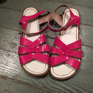 Salt Water Sandals by Hoy Shoes - Pink Patent Leather Saltwaters