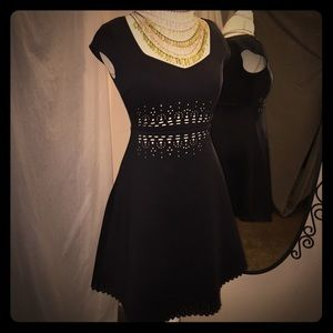 Clover Canyon dress with cutout pattern.