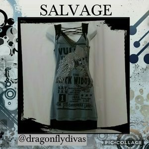 Salvage Dresses & Skirts - 🆕♠️Salvage Black Widow Lace Up Mini Dress NWOT ♠️