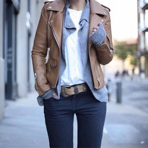 Blank NYC Jackets & Blazers - BlankNYC 'Easy Rider' Moto Jacket in Tan