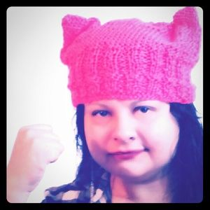tswcouture Accessories - Resist! Kitty ears beanie hand crochet pink