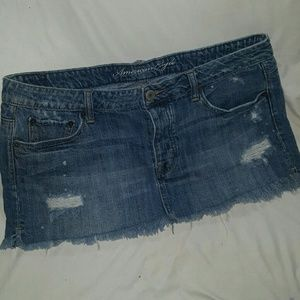 American Eagle Outfitters Dresses & Skirts - DISTRESSED MINI SKIRT ~ American Eagle HOT4 SPRING