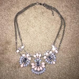 Pink, White, and Blue Statement Necklace
