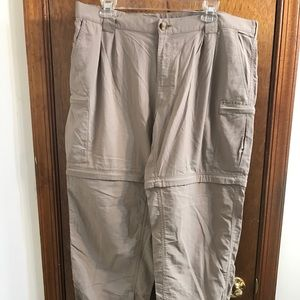 Exofficio Other - Exofficio Khaki tan nylon zip off pants shorts