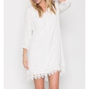 Off white crochet white dress