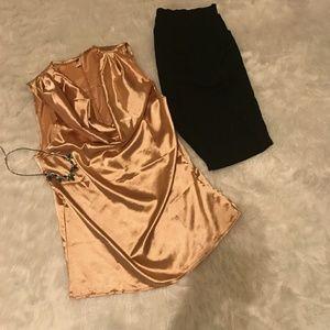 ELF Tops - Gold Dressy Top
