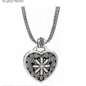 Brighton Jewelry - NEW Brighton floral heart locket and chain