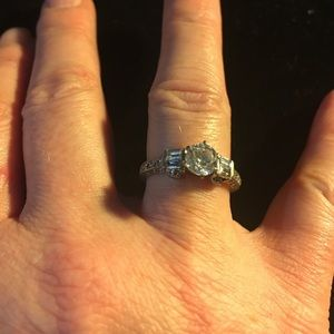 Jewelry - Sterling Silver Round Cut CZ Engagement 3.5g Ring