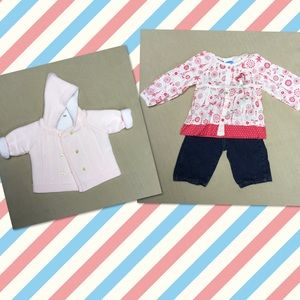 Bon Bebe Other - Baby girl 3M sweater and 3-6 outfit 🌸