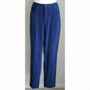Talbots Pants - Talbots Royal Blue Faux Suede Moleskin Slacks