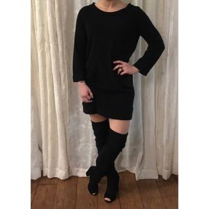 J. Crew Black Cashmere Shift Dress