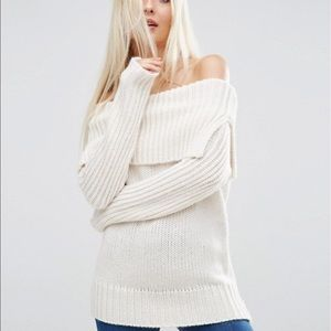 ASOS Petite Sweaters - NWT ASOS Sweater Off the Shoulder Size 6