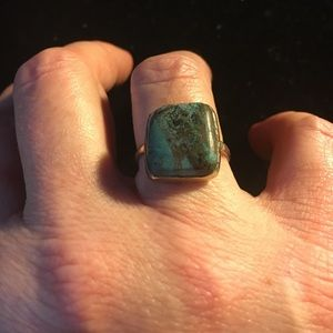 Jewelry - Sterling Silver & Chrysocolla Gemstone Ring