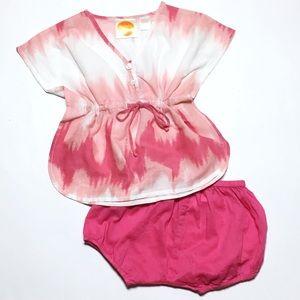 Masala Baby Other - Masala Baby Pink Dip Dye Tunic & Shorts