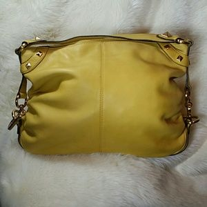b. makowsky Handbags - B Makowsky Leather Yellow Hobo Handbag