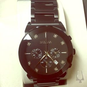 Bulova Other - NWT!! Authentic Bulova Men's Diamond accent watch