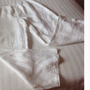 AMANDA SMITH Pants - AMANDA SMITH WHITE LINEN PANTS 10 NWOT