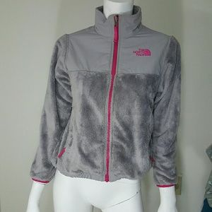 The North Face Other - The North Face Grey Pink Denali Thermal Jacket M
