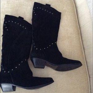 Reba Shoes - REBA LEATHER WESTERN BOOTS 7 M NWOT