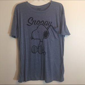 Peanuts Tops - Snoopy Blue Tee Shirt