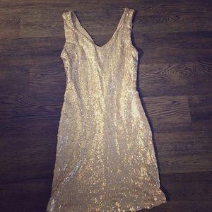 Crystal Doll Dresses & Skirts - Gold Sequin Dress