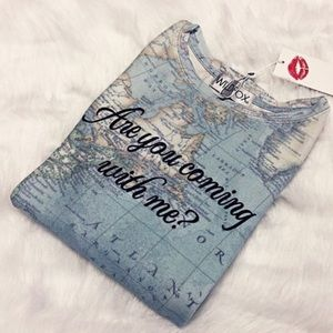 """Wildfox Couture Tops - """"Are you coming with me"""" wildfox T-shirt"""