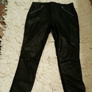 ABS Leggings/Pants w/ Vegan Leather Front