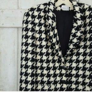 Vintage Houndstooth Blazer / Jacket
