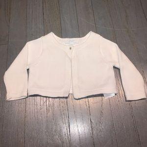 Jacadi Other - Jacadi white cotton button shrug bolero cardigan