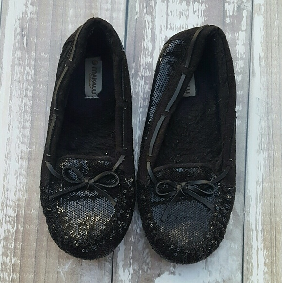 Makalu Shoes | Black Sequin Moccasins