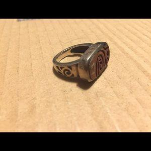 Lia Sophia Jewelry - ‼️REDUCED‼️ Chunky Wood/Metal Ring
