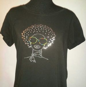 Reserved Tops - Fitted Afro Studded Tee