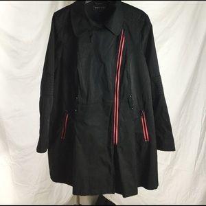Black Rivet Jackets & Blazers - Black Rivet Lightweight Jacket w/ Moto Styling